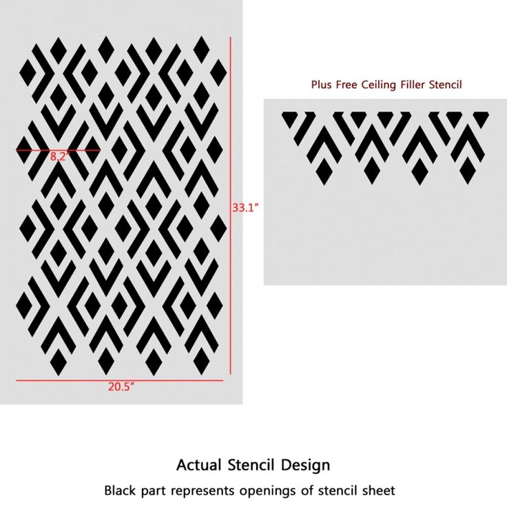 geometric pattern stencil | Geometric Stencils Pattern Elaine reusable Modern style for DIY easy ...