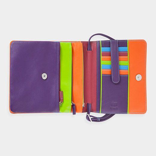 Multicolor Leather Organizer Bag