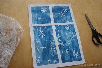 sníh mimo okno laku plastu