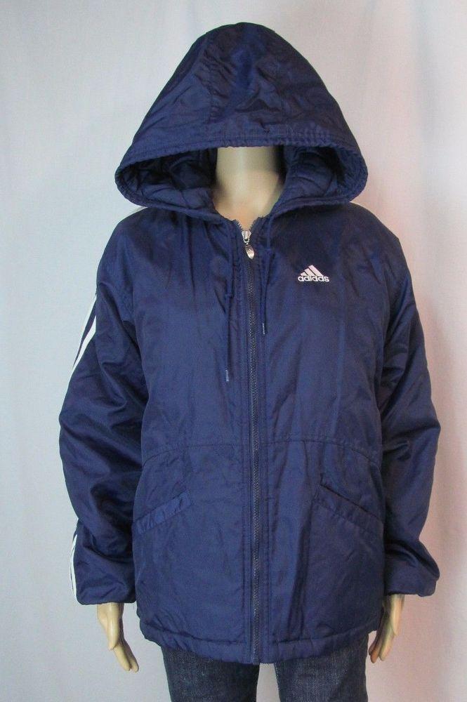 Vintage Adidas Men Unisex Size M Winter Coat Jacket Hooded