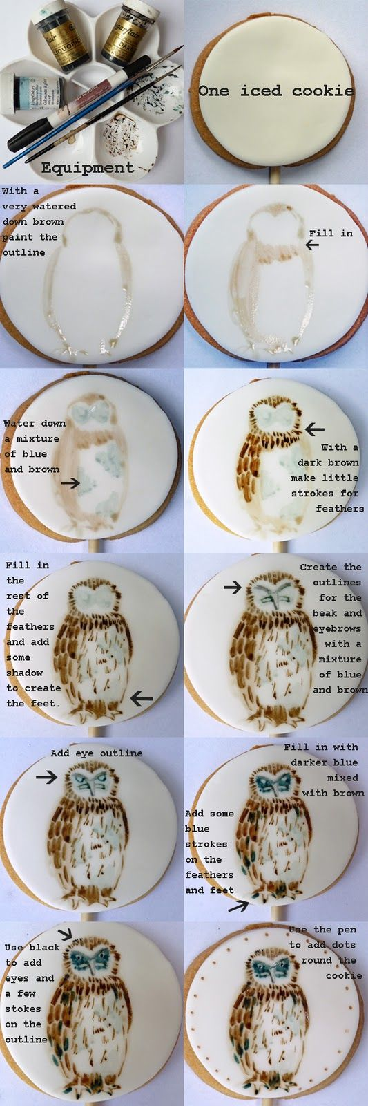how to paint a cookie with an owl...Ain't nobody got time for that.