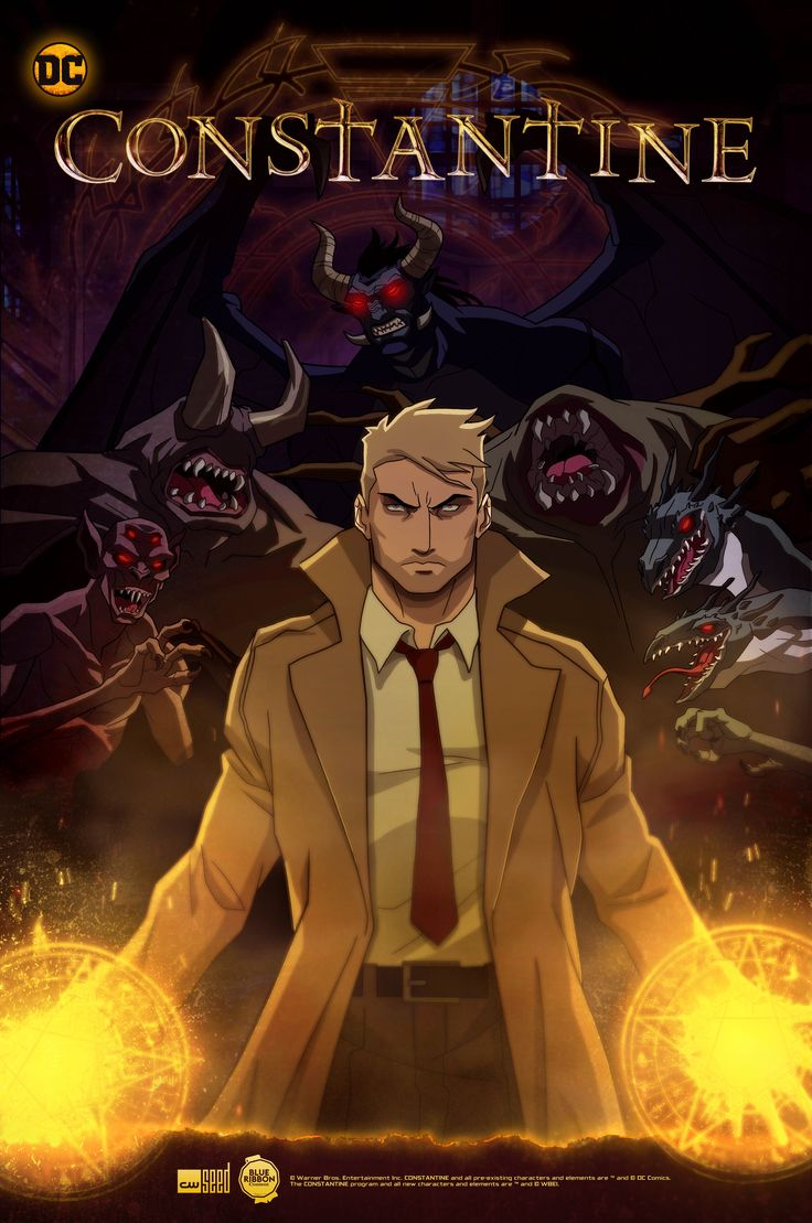 Constantine Animated Series Key Art Revealed  The CW released a new piece of key art for the upcoming animated Constantine series.  The image which you can view below provides a new look atJohn Constantine along with some of the baddies Constantine will be going up against.   New Constantine key art.  The animated series will premiere on The CW's online platform The CW Seed in early 2018.Matt Ryan who starred as the title character on the recent NBC series will return to voice John…