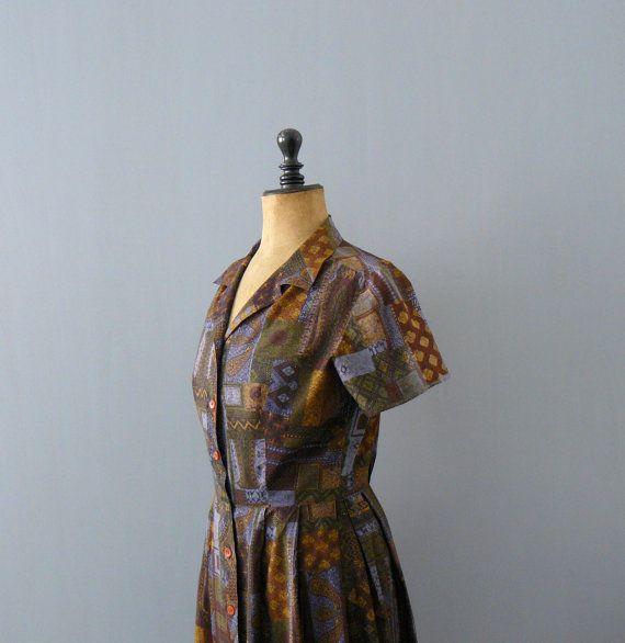 Vintage shirtwaist dress. 1950s dress. 50s от BottegaVintage
