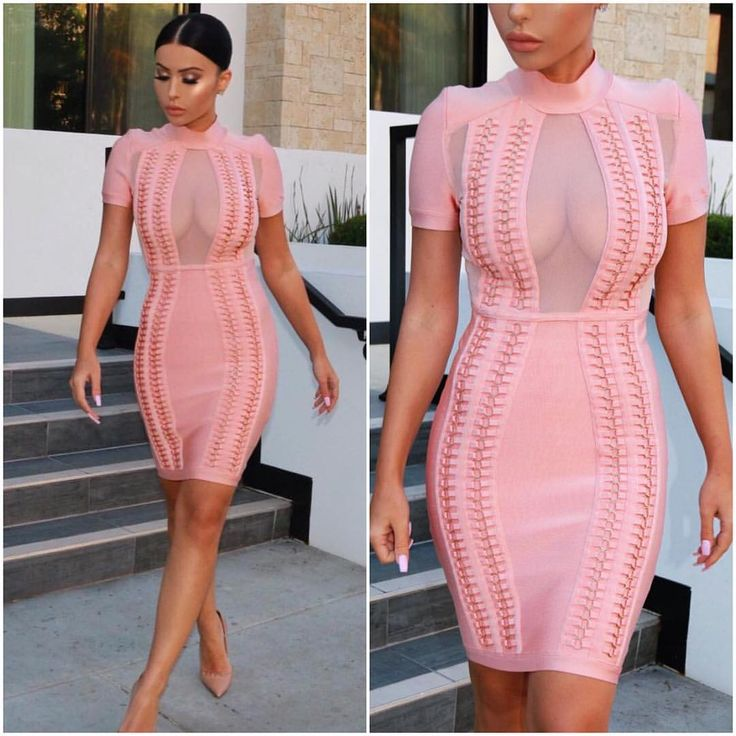 "If this is not a party dress, then we don't know what is.  The ""Elle Eyelets Mesh Bandage Dress"" is just perfect.  Soon, on conFASHIONal."