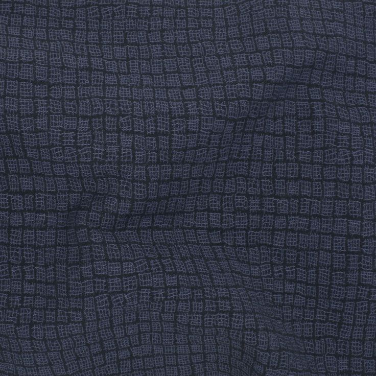 Stretch Woven Jacquard - Indigo Crosshatch - Distinctive Sewing Supplies
