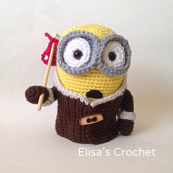 Free Crochet Pattern For Bob The Minion : CROCHET PATTERN Minion BOB movie crochet by Elisascrochet ...