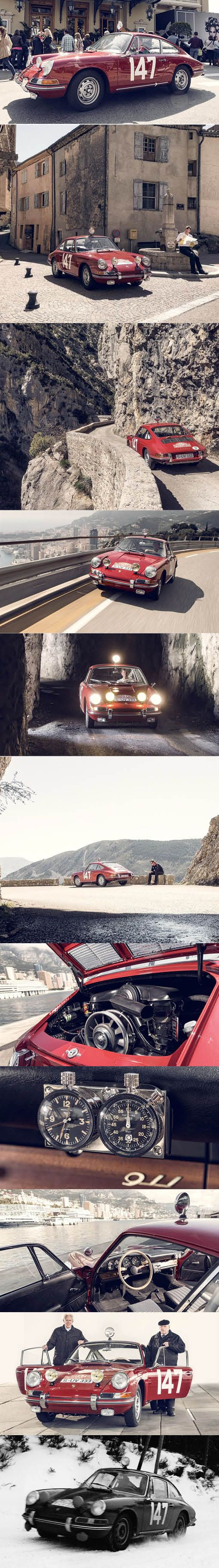 1965 Porsche 911 S / Germany / winner Rally Monte Carlo / red / restored by Porsche Classic