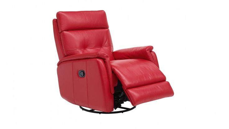 Orlando Swivel Glide Leather Recliner - can face the TV, or swing around to face the lounge/courtyard - not sure on the red though...
