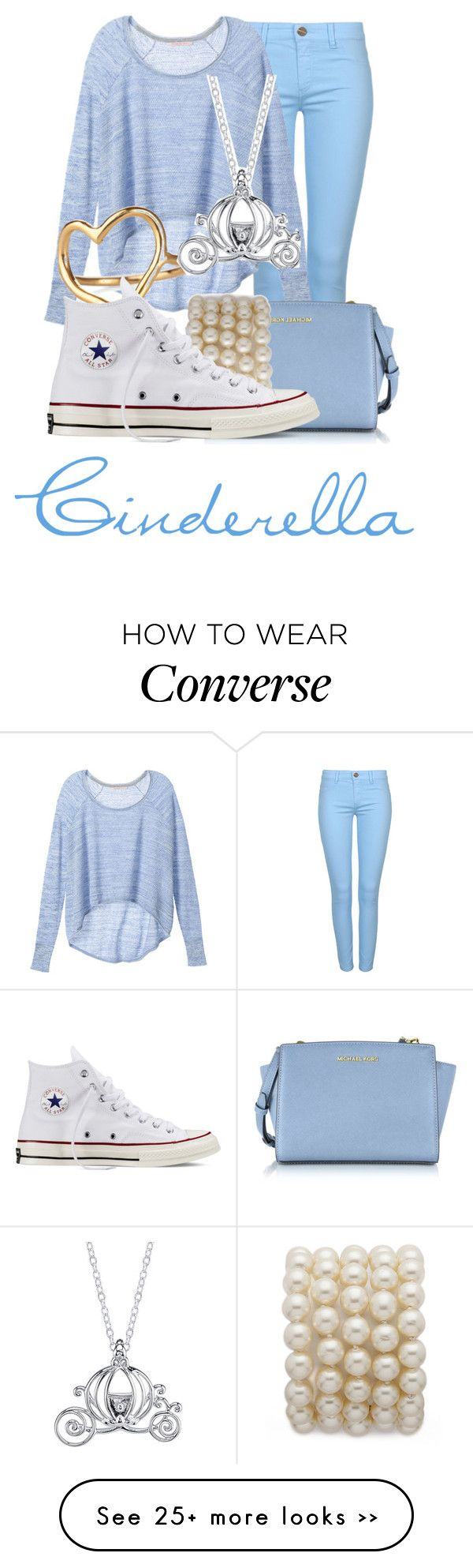 """Cinderella"" by disneyfasion on Polyvore--i like all aspects of this outfit, just not together"