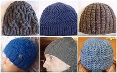 как связать мужскую шапку спицами схема описание мастер-класс