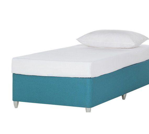 Young Airsprung New Elliott Single Divan Bed Mattress Teal At Argos Co