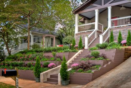tiered landscaping front yard | Home Improvement ... on Tiered Yard Landscaping id=59818
