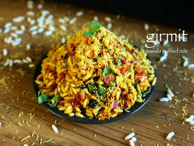 girmit recipe, masala puffed rice, north karnataka mandakki upkari with step by step photo/video. popular street food recipe which is also known as churmuri