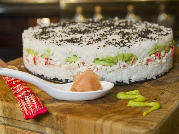 ¿Cómo hacer un pastel de sushi en casa?