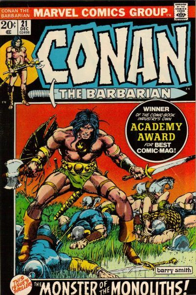 Conan the Barbarian #21. Cover by Barry Smith. #Conan #BarryWindsorSmith