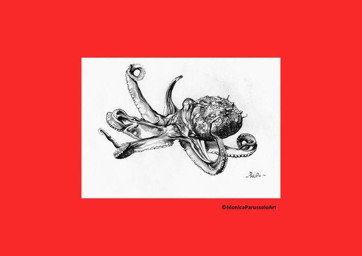 Pesci del Mediterraneo/stampa di illustrazione originale/polipo/MonicaParussoloArt di MonicaParussoloArt su Etsy