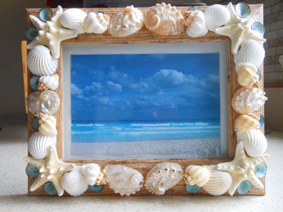 Hey, I found this really awesome Etsy listing at http://www.etsy.com/listing/126882610/beach-decor-seashell-picture-frame-shell