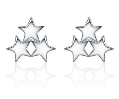 Cute 3 stars stud earrings...great as a gift also   weight: 0.88g Size: 0.8*0.9CM