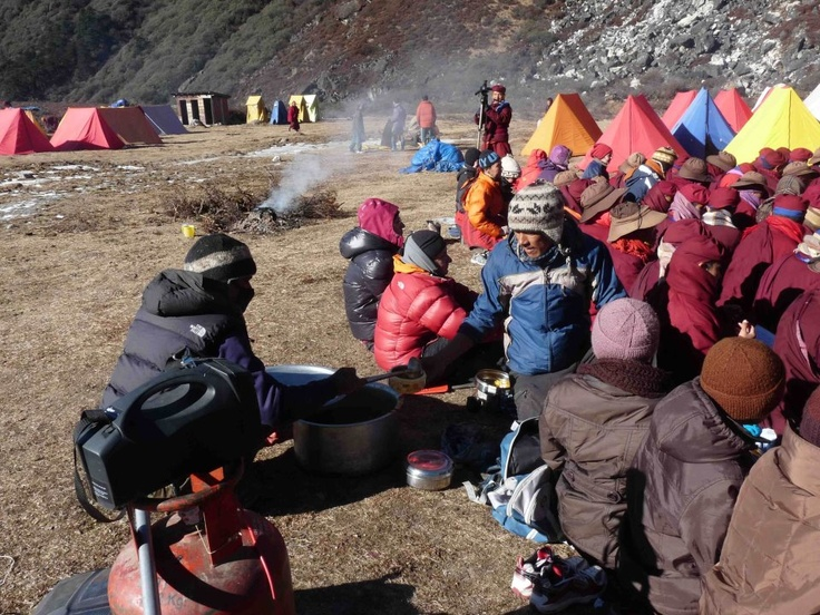 MIPRO MA-101a portable wireless PA system used in a base camp in Tibet mountain: 5,500 meters (18,000 ft) above sea level and -20C temperature.