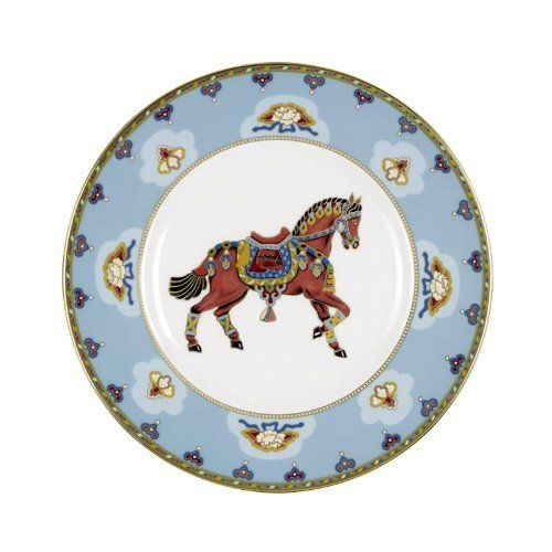 samarkand aquamarine salad plate horse by villeroy boch bone china. Black Bedroom Furniture Sets. Home Design Ideas