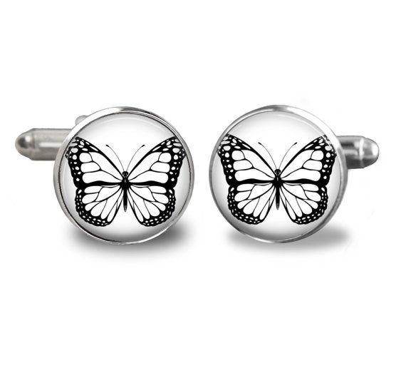Butterfly Cufflinks Handmade cufflinks Custom by Cufflinks4him, $18.00