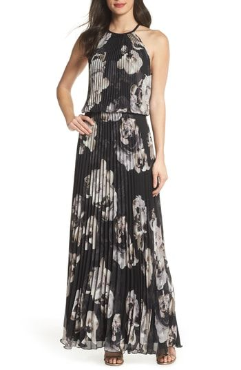 c5936fcd0c90f Where to shop for Xscape Pleated Halter Neck Chiffon Gown | Womens ...