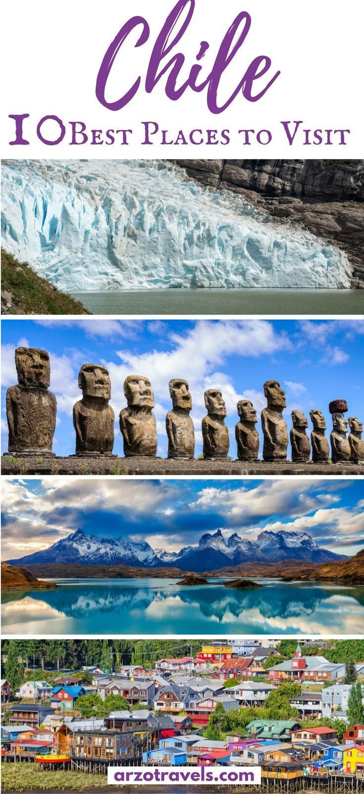 Find out about the very best places to visit in Chile and what to do there. Find also important travel information for Chile I Where to go in Chile. I What to see in Chile #SouthAmericaTravelChile