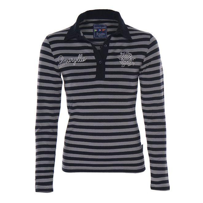 Dámské pruhované tričko s límečkem Giorgio Di Mare | Móda & Styl