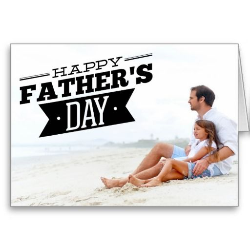 Modern Typography Happy Father's Day Photo Card