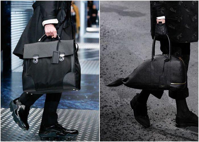 Мужские сумки осень-зима 2015-2016: Prada, Thom Browne