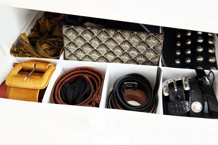 organizing belts + clutches