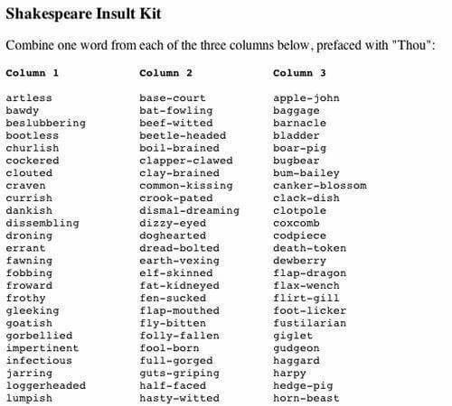 Thou Clouted Clay Brained Bugbear