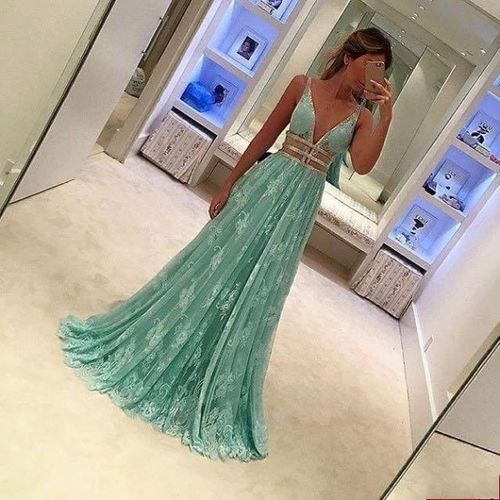 prom dresses,lace evening gowns,mint green prom gowns,evening dress,Tulle