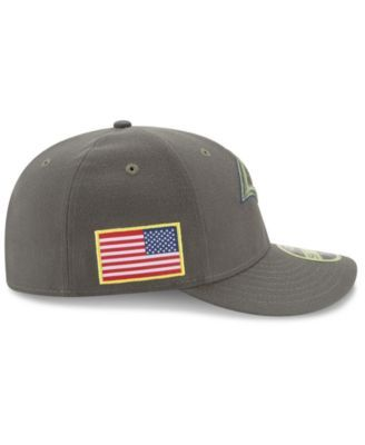New Era Los Angeles Rams Salute To Service Low Profile 59FIFTY Fitted Cap - Green 7 1/4