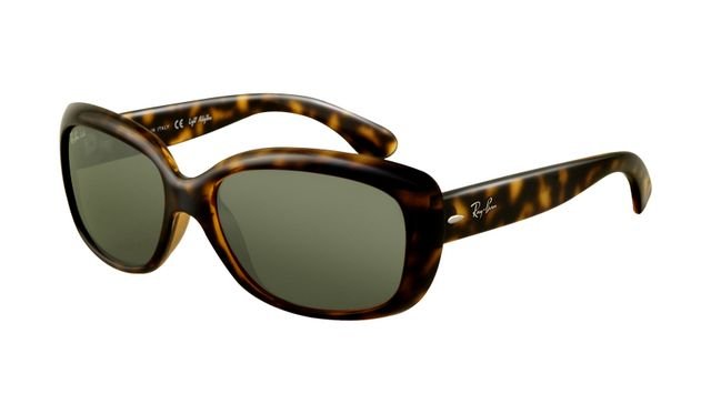 Ray Ban RB4101 Jackie Ohh Sunglasses Light Havana Frame Crystal Green Lens for Cheap