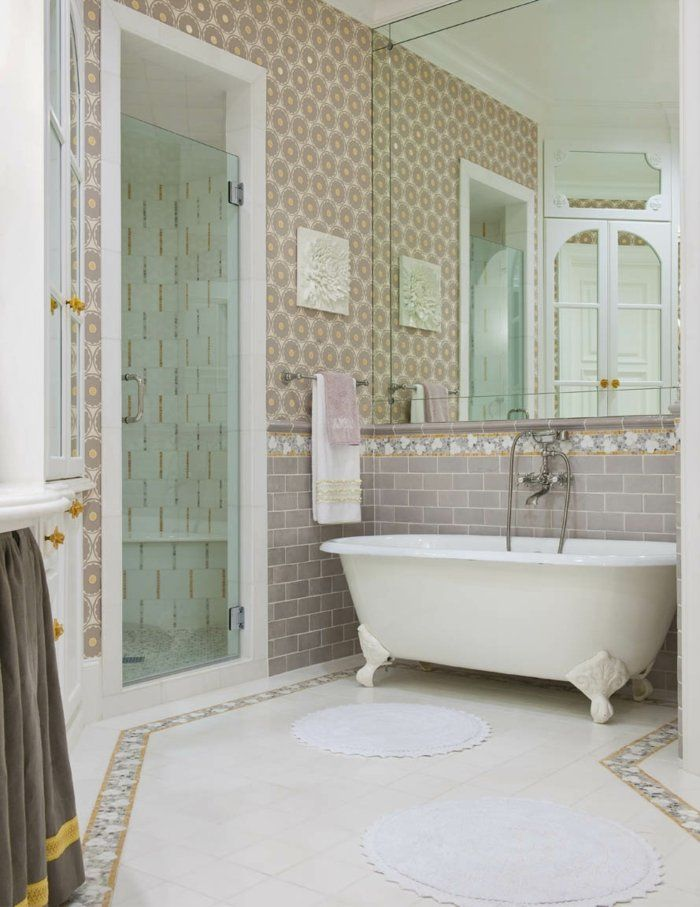 bathroom impressive look of bathroom designs using brown glass subway tile bathroom ideas and rectangular mirrors also with rectangular glass shower