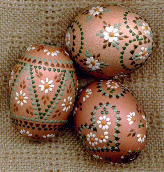 Decorated Easter Eggs, copper