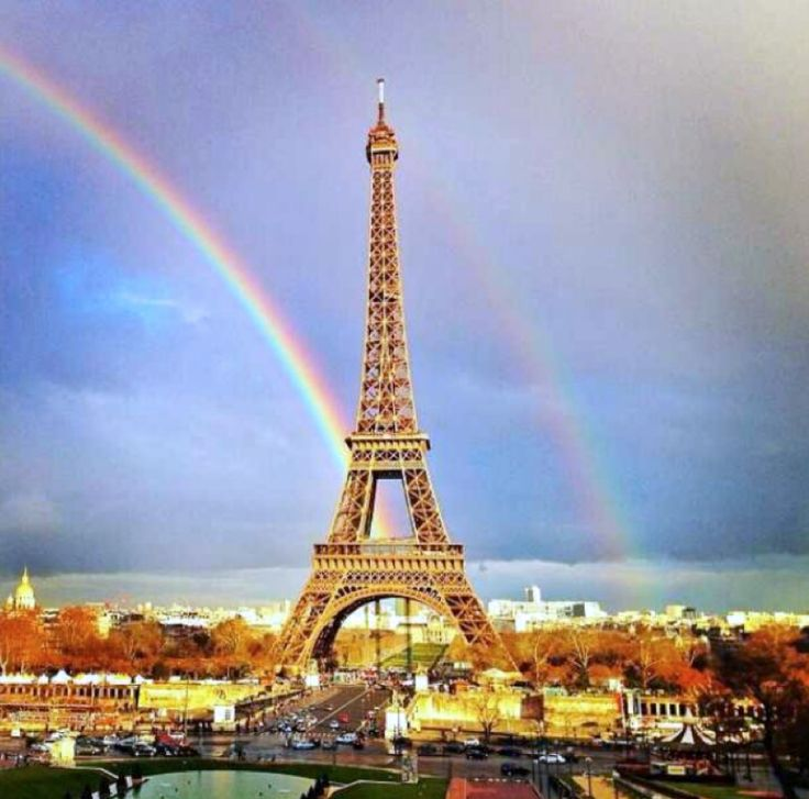 rainbow over the eiffel tower paris paris forever pinterest eiffel towers towers and. Black Bedroom Furniture Sets. Home Design Ideas