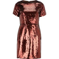Bronze sequin shift dress