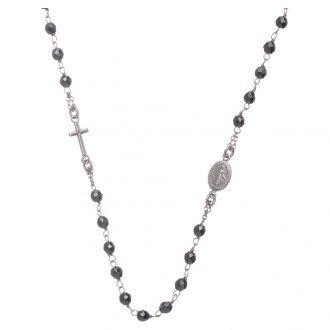 Rosario girocollo silver e sfera in ematite 4,7 mm | vendita online su HOLYART