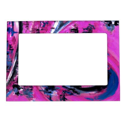 Big Wave Pink Magnetic Picture Frame