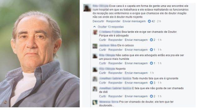 O trapalhão Renato Aragão, obriga a todos que o chame de doutor Renato Aragão.
