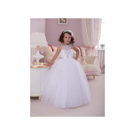 Престиж Платье нарядное Престиж  — 6929р. ---------------------- Платье для девочки Престиж.  Характеристики:  • пышный силуэт • без рукавов • цвет: бежевый • состав: 100% полиэстер  Очаровательное платье для девочки Престиж прекрасно подойдет для любого торжественного мероприятия. Лиф платья декорирован полупрозрачной кружевной вставкой со стразами. Пышная юбка дополнена небольшим поясом, украшенным бантиком и стразами. В этом платье юная леди всегда будет в центре внимания!  Платье…