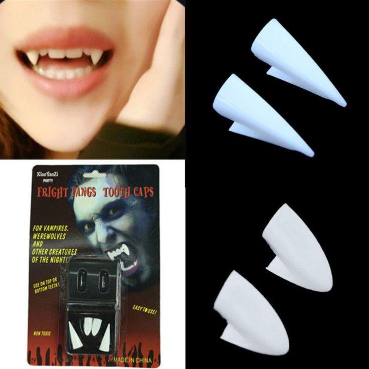2Pair Vampire Werewolf Fangs Teeth Tooth Halloween Fancy Dress Costume Accessory #UnbrandedGenenic