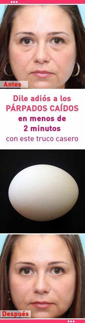 Dile adiós a los PÁRPADOS CAÍDOS en menos de 2 minutos con este truco casero #parpado #caido #mascarilla #DIY #belleza #ojos