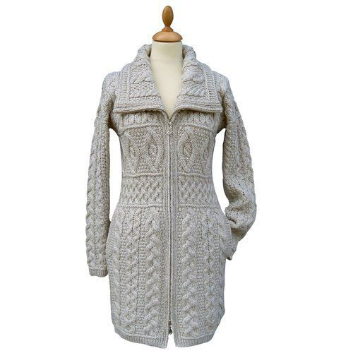 This Ladies Irish Merino High Collar Zipper Aran Sweater Coat by Westend Knitwear is a must have for any wardrobe. The Irish aran sweater shows off an array of traditional aran stitches creating a beautifully designed garment. Promising outstanding quality, stunning design and great comfort and... more details available at https://perfect-gifts.bestselleroutlets.com/gifts-for-women/clothing-shoes-jewelry-gifts-for-women/product-review-for-100-irish-merino-wool-double-collar-a