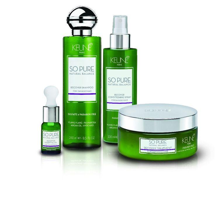 cool Keune lanceert So Pure Natural Balance Recover haarproducten