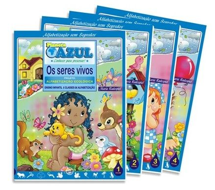 Coleção Alfabetização Sem Segredos Planeta Azul - Projeto Alfabetização Ecológica - ISBN