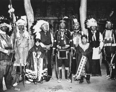 Kickapoo, Cheyenne, Wichita, Cheyenne, Osage, Sioux, Chippewa