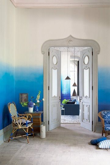 Color On Trend: Dip-Dyed Ombre Wallpaper
